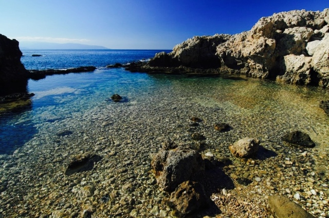 Milazzo is surrounded by blue sea and sea life
